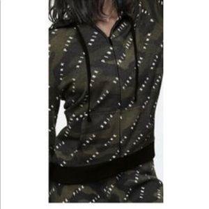 NWOT VS Pink Camo zip up hoodie size L